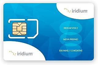 Iridium Satellite Phone Tarjeta SIM prepaga para Oriente Medio y Norte de África (MENA) con 500 minutos (validez de 12 meses)