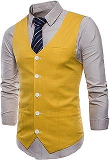6fffd99eca486 Gilet Homme pour Costume Slim fit élégant Casual Mariage Couleur uni