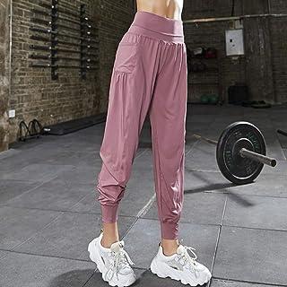 Beiziml Women Sport Yoga Pants Pocket Fitness Training Running Leggings Stretchy Sportswear Gym Leggings Solid Slim High W...
