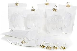 10grands motifs Noël blanche avec ailes dange dépaisseur à ressort et pince métallique Doré (Sachet de 14x 22x 56c...