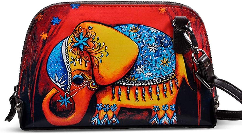 Painted Shoulder Bag Printed Shell Messenger Bag Fashion Clutch Bag for Girls (color   K, Size   21cm5cm14cm)