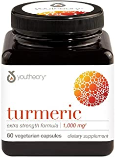 Youtheory Turmeric Extra Strength with Black Pepper (BioPerine) 60 Count (1 Bottle)