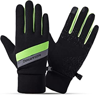 Gnzoe Gloves, Men Cycling Motocycle Gloves Cashmere Winter Gloves Black One Size