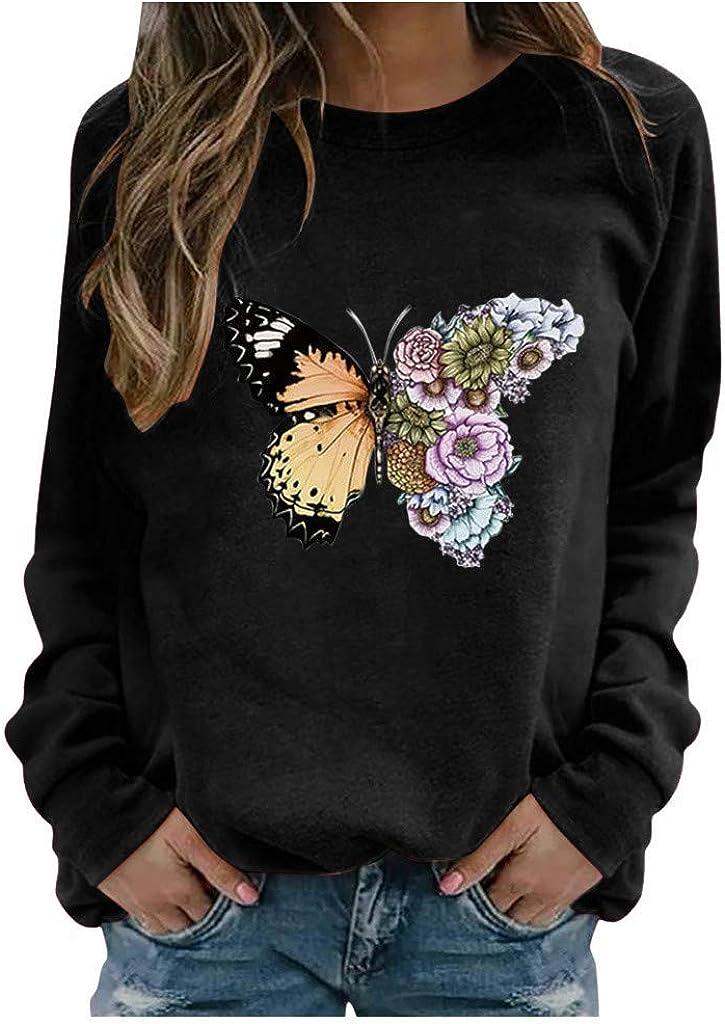 YunZyun Womens Hoodie Over item handling Sweatshirt Crew Soft sale Comfy Teen Neck Loose