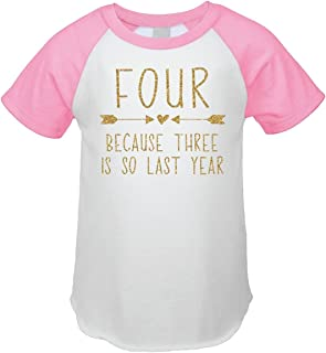 Bump and Beyond Designs Fourth Birthday Outfit Girl Four Year Old Girl Birthday T-Shirt