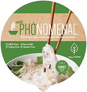 Pho'nomenal Bowl Instant Pho Noodles Gluten Free Low Sodium Vietnamese Vegetable Soup No MSG Authentic Family Recipe Non G...