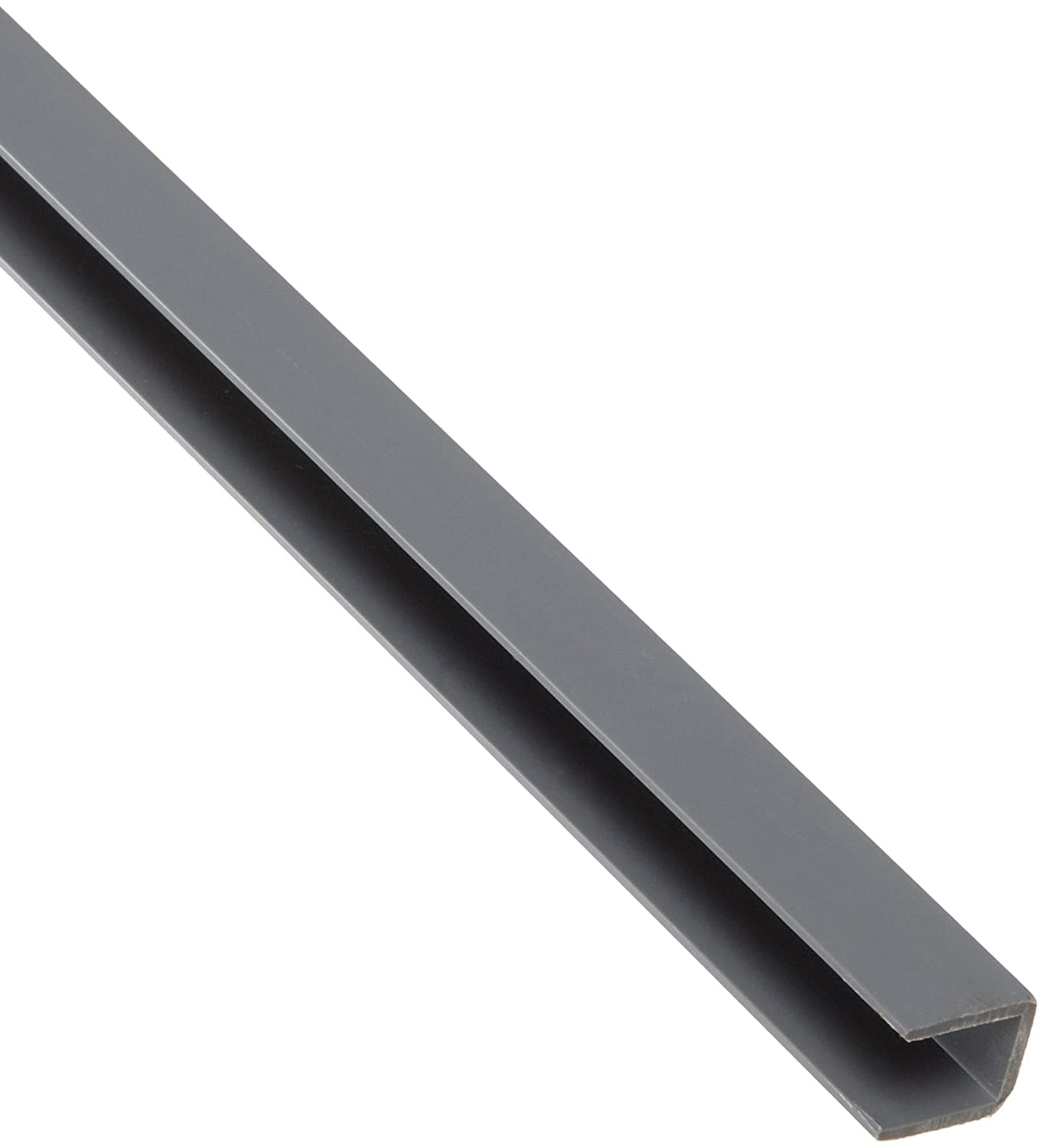 PVC Polyvinyl Super special price Chloride Rigid Ranking integrated 1st place U-Channel Equal Leg Opaque Gray