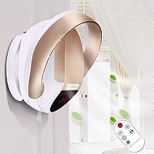 HRD Ventilateur Mural sans Pale, avec télécommande/Timer, Ventilateur Silencieux pour Ménage, 32W, doré