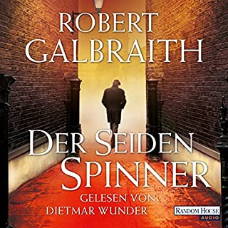 Der Seidenspinner     Cormoran Strike 2              By:                                                                                                                                 Robert Galbraith                               Narrated by:                                                                                                                                 Dietmar Wunder                      Length: 16 hrs and 35 mins     3 ratings     Overall 5.0