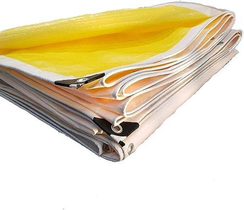 ATR Baches Couvre-bache imperméable Polyvalente en Poly, imperméable, réversible, Jaune et Blanc, 180g   m \u0026 sup2; -0.38mm bache de Couverture Professionnelle (Couleur  Jaune, Taille  3  8m)