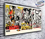 Kill Bill Pulp Fiction Reservoir Dogs Quentin Tarantino - Lienzo decorativo panorámico (127 x 50,8...