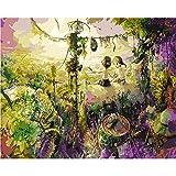 L.L.QYL Malerei Leinwand Jungle Digital-Ölgemälde DIY Reines handgemaltes Ölgemälde Kern