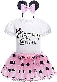 TiaoBug Baby Kleidung Set - Strampler, Rock Haarreif Baby Mädchen Kleider Baumwolle Prinzessin Kostüm Neugeborene Polka Dots Rock Tutu Kleid