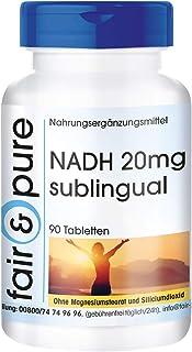NADH 20mg Sublingual - Vegano - Alta pureza - 90 Comprimidos