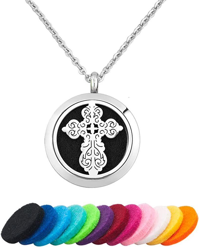 Charmed Craft Max 87% OFF Religious Necklace Essen Japan's largest assortment Aromatherapy Prayer Cross