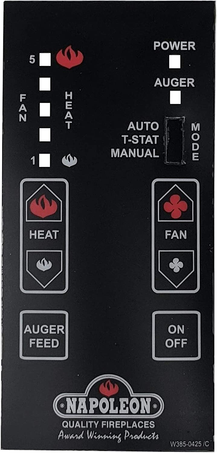 New products world's highest quality popular Napoleon W385-0425 Control Panel NPS-45 New sales Decal NPI