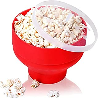 2020 Creative Popcorn Microwave Silicone Foldable Red High Quality Kitchen Easy Tools DIY Popcorn Bucket Bowl Maker for Ho...