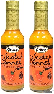2 Pack Grace Scotch Bonnet Hot Pepper Sauce 4.8 oz Each