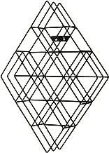 Southern Enterprises Black Steel Wall Mount CD Rack - Holds 108 CDs - Geometric Metal Frame