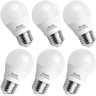 A15 LED Bulb, Acaxin A15 LED Lights 60W Equivalent,E26 Medium Base 2700K Warm White 600 Lumen Non-Dimmable E26 LED Bulb for Home Lighting,6 Pack