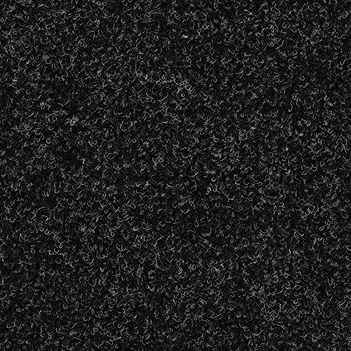 Kunstrasen Rasenteppich mit Noppen   Höhe ca. 7,5mm   133, 200 und 400 cm Breite   anthrazit schwarz   Meterware, verschiedene Größen   Größe: 1 x 1,33 m