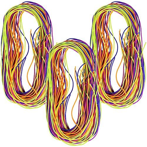 30x Folia Flechtbänder 10 Farben 1m opak transparent Scoubidous