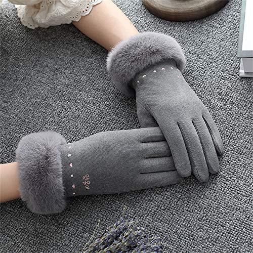 Handschuhe Winterhandschuhe Damen Sowie Samt Baumwolle Radfahren Touchscreen Touchscreen-Handschuhe Warme Sport Herbst-und Winter Handschuhe