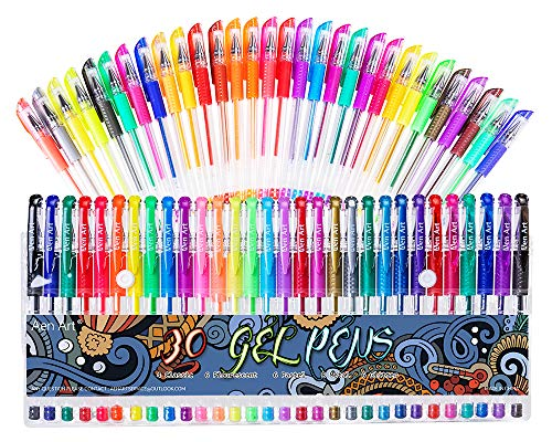 Gel Pens 30 Colors Gel Marker Set Colored Pen $7.64(60% Off)