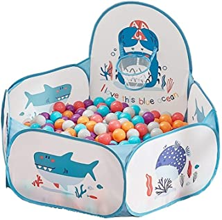 LIUFS Colorful Ocean Ball Indoor Playpen Household Children's Toy Color Bubble Ball Game Pop Ball Pool Fence + 200 Soft Balls Elastic Ball
