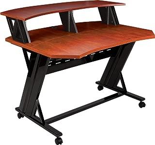 Studio Trends 46 in. Studio Desk with Dual 4U Racks Cherry