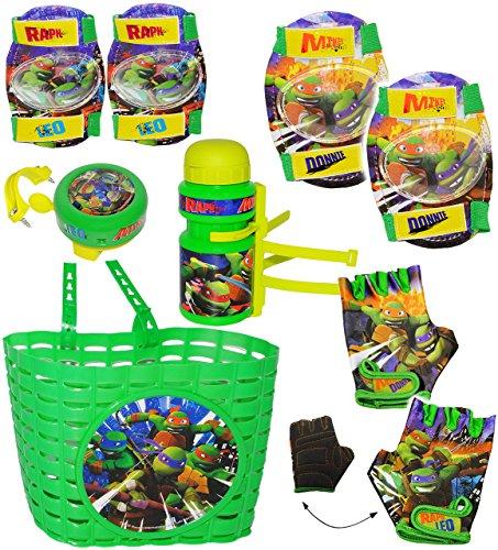 alles-meine.de GmbH Fahrradhandschuhe -  Teenage Mutant Hero Turtles  - abgepolstert - 4 bis 6 Jahre - universal auch für Roller Dreirad Kinderfahrrad / Laufrad Kinder - mit Po..