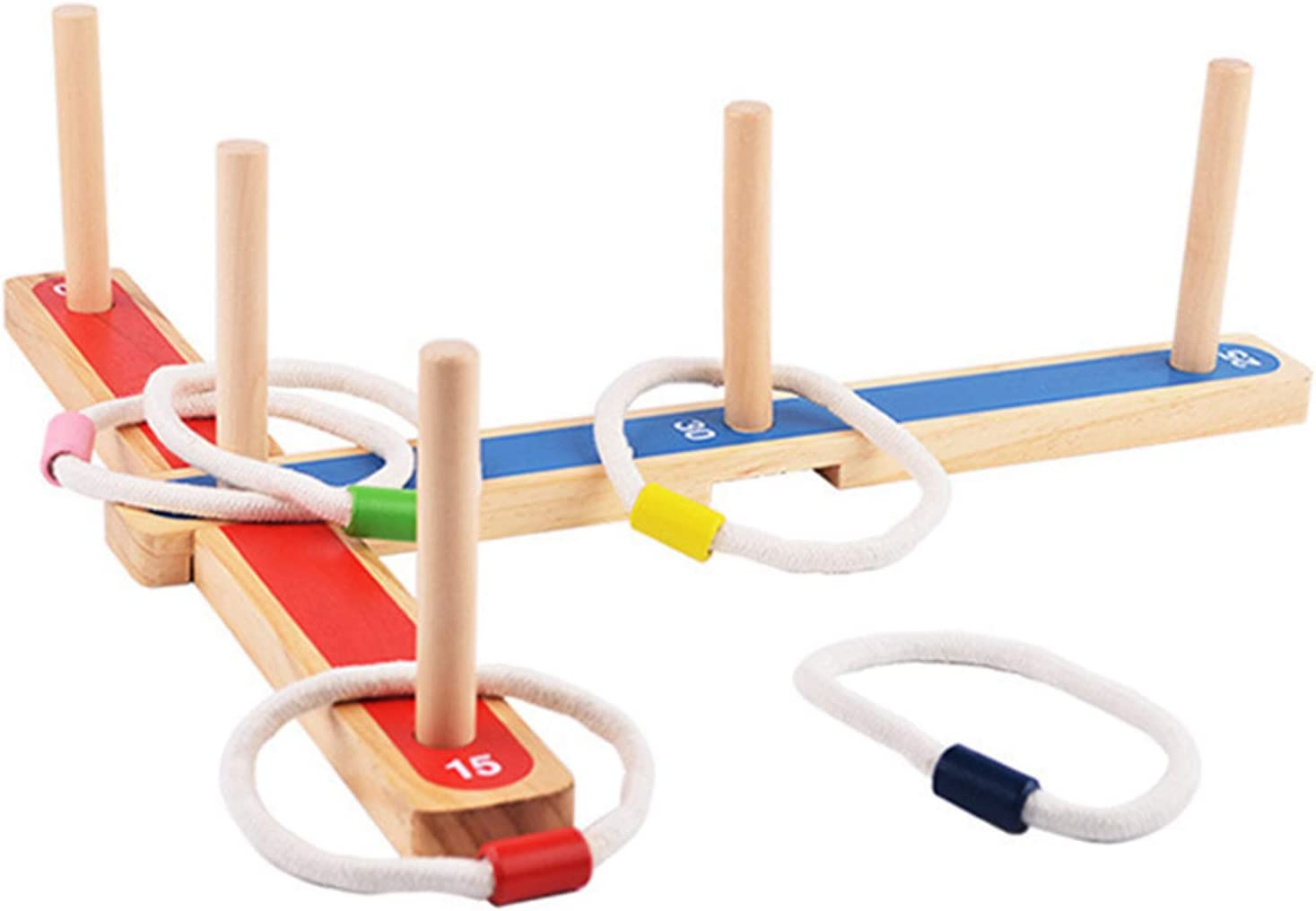 BARMI Quoits Easy Storage Multi-Color Kids New products world's highest quality Fashionable popular for Per Wooden