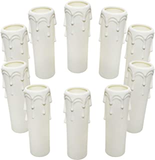 10 Piezas Manga para Vela 100 mm Diámetro de 25 mm Plástico Vela Casquillo Cubiertas de Velas de Plástico Blanco Tubos Mangas