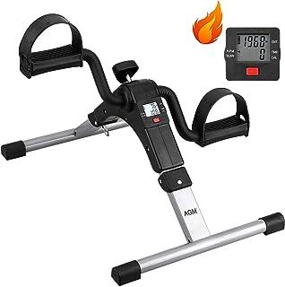 Folding Pedal Exerciser, Mini Arm Leg Under Desk Exercise Bike Foot Hand Cycle Portable Stationary Peddler Machine Bicycle Exerciser for Elderly Men Women