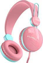 AILIHEN HD50 Kids Headphones Volume Limited Safe 85dB Wired On Ear Childrens Headsets Lightweight for Boys Girls School Airplane Travel (Pink)