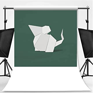 Animal Origami Vector Photography Backdrop,132475 for Photo Studio,Flannelette:6x10ft