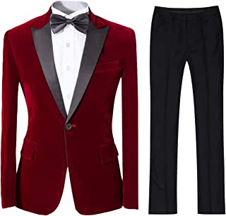 Best red satin suit mens Reviews