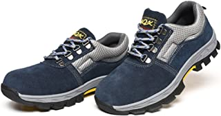 KESOTO Mens Safety Shoes Fashion Steel Toe Work Boots Hiking Climbing Footwear