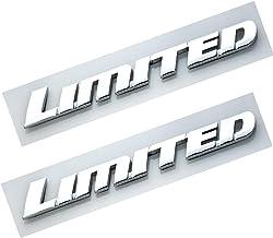 EmbRoom 2Pcs 6.2L V8 Super Duty Boss Heavy Duty Side Fender Emblem Superduty Heavyduty Badge 3D Logo Compatible for 250 350 Chrome Black