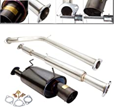 Fit 2006-2008 Mitsubishi Eclipse (3.8L V6 Engines Only) 2.5 Inch Stainless Steel Catback Exhaust System 4 Inch Gun Metal Muffler Tip