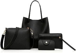 4 Pcs Package,Clearance! AgrinTol Women Pattern Leather Handbag+Crossbody Bag+Messenger Bag+Card Package