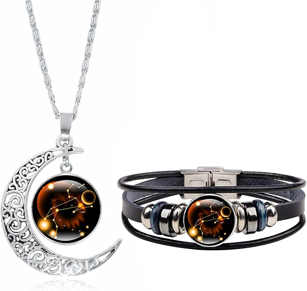 Dcfywl731 Finally resale start 12 Constellation Necklace Weave 2021 spring and summer new Le Multilayer Bracelet