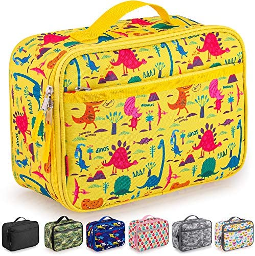 Zulay Insulated Lunch Bag Thermal Kids Lunch Bag With Spacious Compartment Built In Handle Portable product image