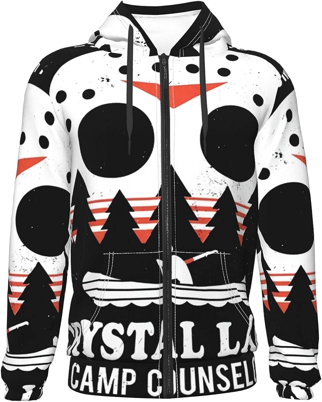 Camp Crystal Lake Logo Teenager Zipper Hoodie Coat Jacket Discount mail order P New popularity Warm