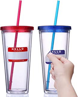 Best 24 oz acrylic tumbler with lid and straw Reviews