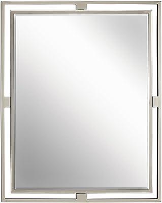 Kichler Lighting Hendrik Rectangular Mirror, Silver, 41071NI