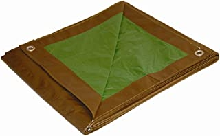 20x30 Multi-Purpose Brown/Green Medium Duty DRY TOP Poly Tarp (20'x30')