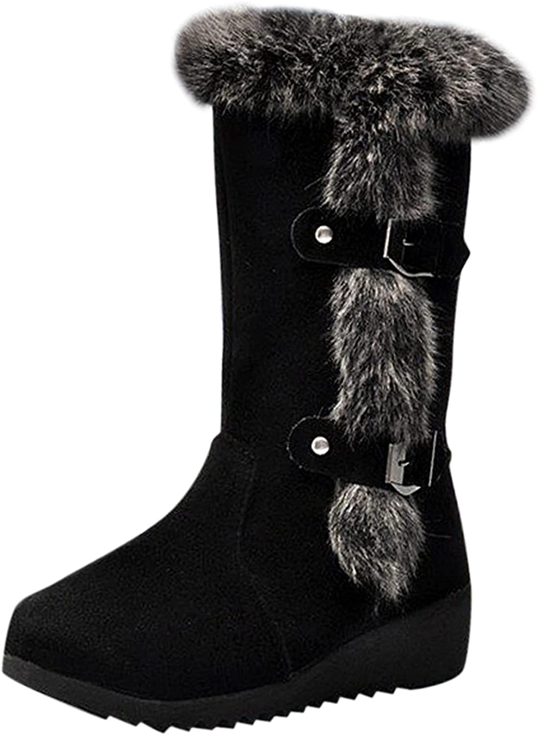 Boots for Women Fashion Suede Winter Plus Cotton Fleece 5 ☆ Challenge the lowest price of Japan popular Warm Boo