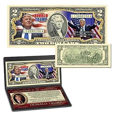 Donald Trump 45th President Colorized $2 Bill