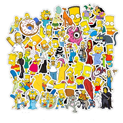 Simpson Family Vinyl Waterproof Stickers Computer Car Skateboard Motorcycle Bicycle Luggage Guitar Bike Decal Best Gift for Kids (Simpson Family)